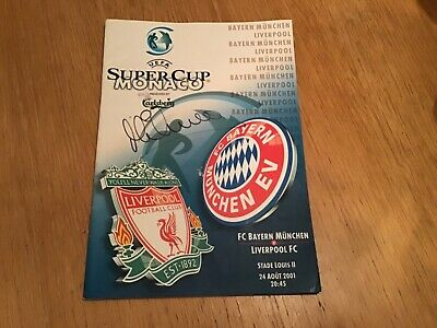 2001 Uefa Super Cup Final Liverpool V Bayern Munich Signed By Michael Owen