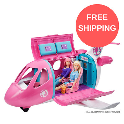 New BARBIE Dream Plane Doll Playset Girls Toy with 15+ Themed Accessories