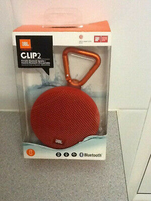 JBL Clip 2 Portable Bluetooth Speaker - Red - Sealed Retailed Packed