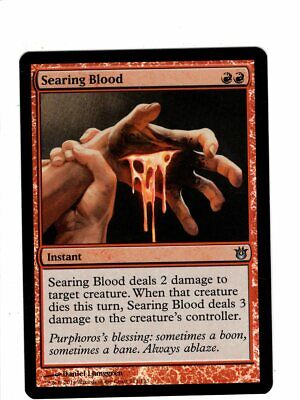 1 FOIL Searing Blood Red Born of the Gods Mtg Magic Uncommon 1x x1