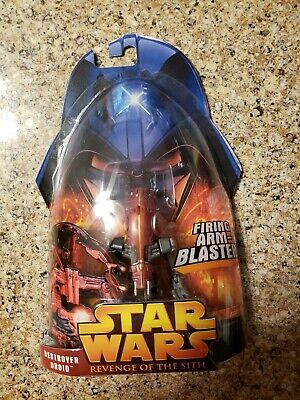 HASBRO STAR WARS ACTION FIGURE DESTROYER DROID ROTS 2005 WITH FIRING ARM BLASTER