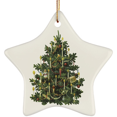 WhatnotGems Candle Lite Christmas Tree 3156 Ceramic Star Ornament