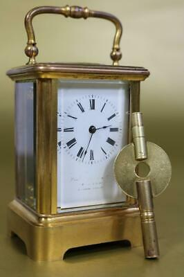 MINIATURE CARRIAGE CLOCK fine antique from Howell James & Co.