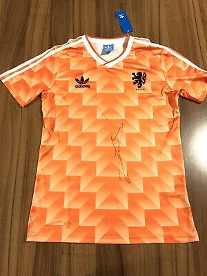 Ruud Gullit Hand signed Holland Euro 1988 Retro shirt Chelsea Ac Milan With COA