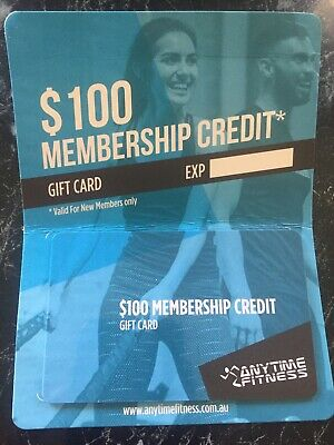$100 Gift card. Anytime fitness Gym