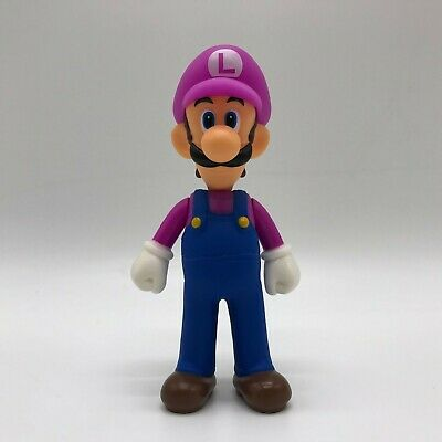 Super Mario Odyssey Luigi Action Figure in Waluigi Costume Toy Vinyl Doll 5.5""