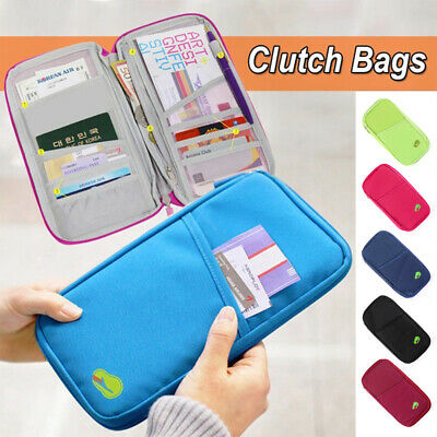 Passport Holder Case Travel Wallet Document Organiser Bag Security Pouch Cover
