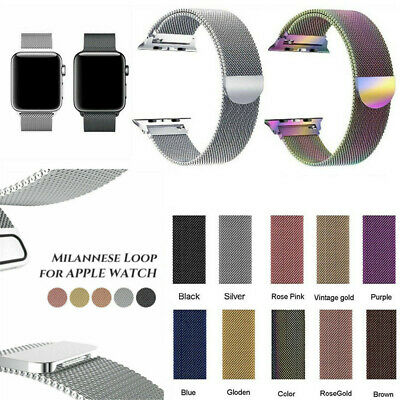 Milanese Loop Strap Watch Replacement Band For Apple Watch Series 1 2 3 38/42mm
