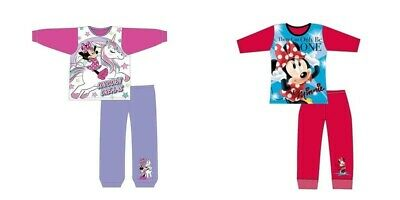 Girls Minnie Mouse pyjamas long sleeve Disney pyjama set nightwear kids toddler