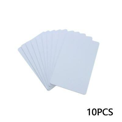 10pcs Blank Identification For Plastic Printing PVC White Card Credit Photo Y9Y7