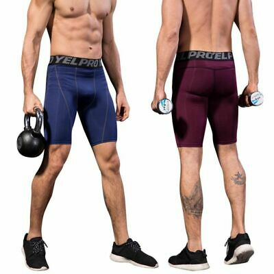 Men's Sports Athletic Tights Running Gym Fitness Compression Wear Shorts Pants