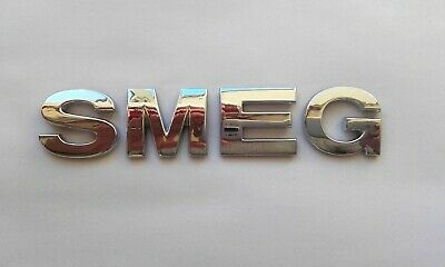 New 3D Replacement Chrome Letters For Kettle, Fridge, Toaster Etc. Spelling Smeg