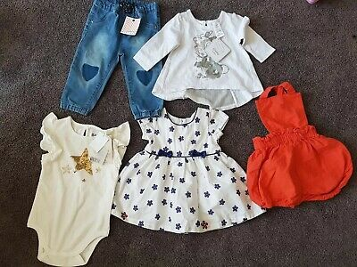 Baby Girls Clothes Bundle New & Preowned Different Sizes