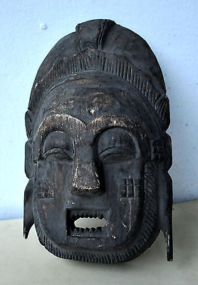 Old Antique African Tribal Mask Demon Black Magic Witchcraft Rare Museum Quality
