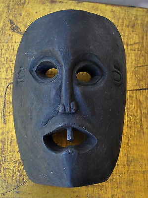 Old Tribal Mask One Tooth Demon Black Magic Witchcraft Occult Antique Rare