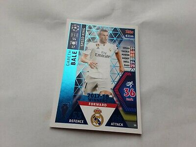 2018-19 Topps UEFA Champions League Match Attax #50 Gareth Bale 17-18 Real Madri