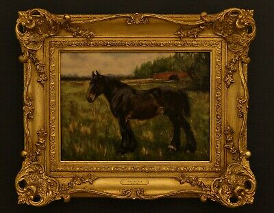 John Milner 1876-1952 A Charming Horse Portrait Oil On Canvas Signed And Dated