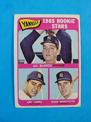 1965 Topps Baseball High #566 Yankees Rookie Stars Vg-Ex Vintage