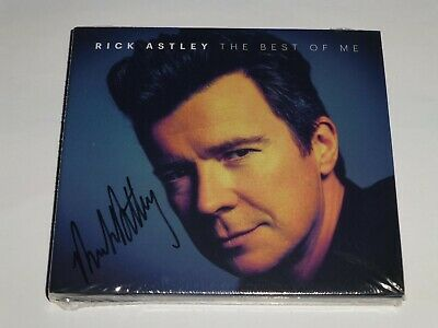 RICK ASTLEY : THE BEST OF ME  * SIGNED * 2 x CD ALBUM, LIMITED EDITION, IN STOCK