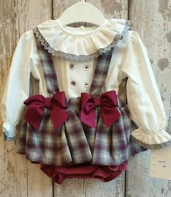 Spanish Style Baby Girl / Toddler Romper and Blouse Set / Outfit 6m - 36m