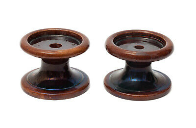 Pair of Antique Victorian Treacle Glazed Pottery Sash Window / Furniture Stands