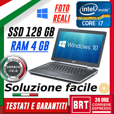 "PC NOTEBOOK PORTATILE DELL E6430 14"" CPU i7 RAM 4GB SSD 128GB HDMI+LICENZA WIN10"