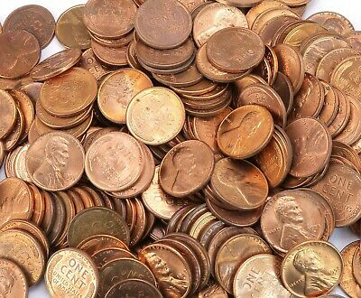Lincoln  Copper Pennies 30 Rolls 10 Pounds  Mixed dates and mint .Free Shipping