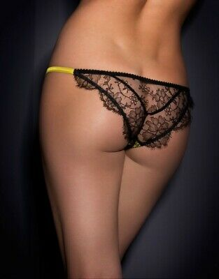 $170 Agent Provocateur STEVIE Brief NWT Black Orig