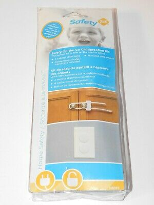 Safety 1st on the go Childproofing Kit 2 Cabinet Locks 16 Outlet Covers