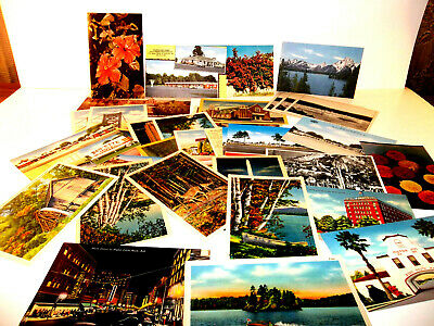 Vintage Postcard Lot Of 36 Mixed NOS