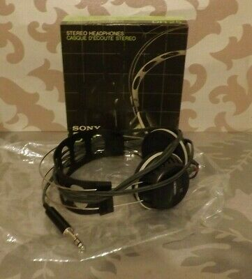 VINTAGE 1970s Original SONY Headphones DR 25 FAB CONDITION With BOX *NEVER USED*