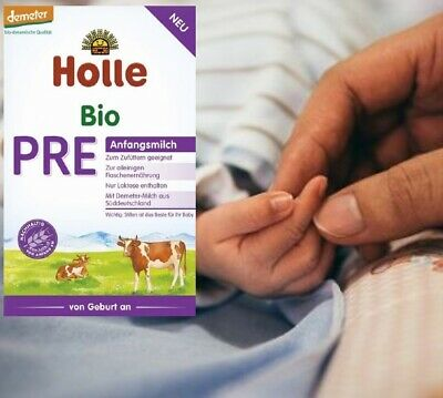 12 x Holle Organic Infant Cow Formula Stage PRE Newborn, 400g
