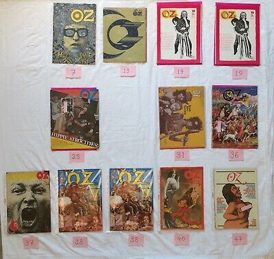 OZ Magazine Collection: 12 Mags 10 Issues: 7, 13, 19, 25, 31, 36, 37, 38, 40, 47