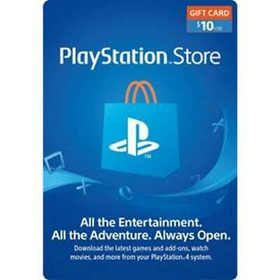 PSN $10 Playstation Network $10 USD US Store Card - Digital Code PS4 PS3