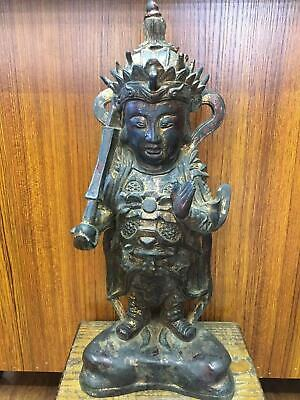 Big Fine Old Chinese Ming Dynasty Copper Bronze Buddha Statue