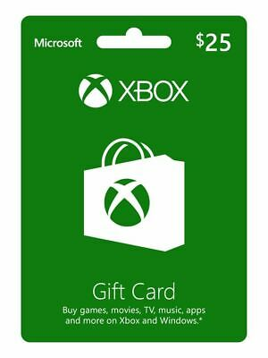 $25 XBOX Live $25 USD Gift Card - XBOX ONE and 360 - 5% off