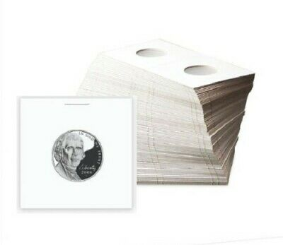 (50) Nickel Size 2x2 Coin Cardboard Mylar Flip Holder