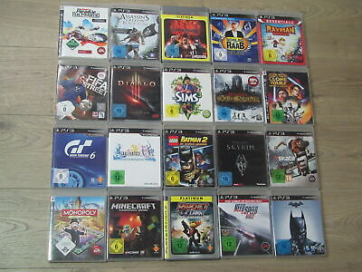 Playstation 3 Spiele Minecraft, Gran Turismo, Diablo, Fifa, Lego Star Wars PS3