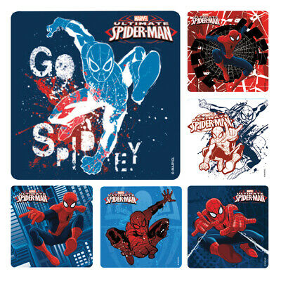 Ultimate Spider-Man Stickers x 6 - Birthday Party Supplies Favours Loot Ideas