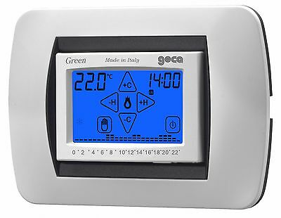 GECA GREEN Cronotermostato touch screen da incasso BIANCO 35282339..