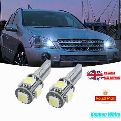 2x LED Bulbs 501 T10 Canbus White 10x 5630 HP To Fit Number Plate Toyota Verso