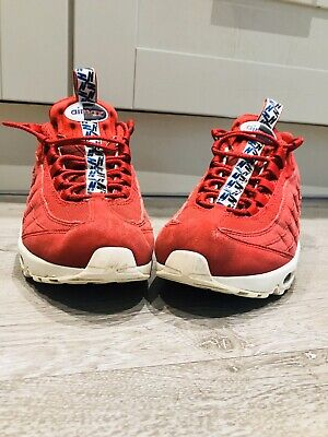 NIKE AIR MAX 95 TT Pull Tab 'Gym Red' Size 7 UK LIMITED