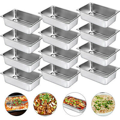 12X Gastronormbehälter GN1/1 Tiefe 150mm Bain Marie Chafing Dish Speisebehälter