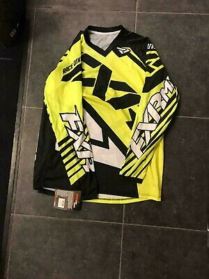 FXR Bright Yellow jersey and pants size L and 32 - Motocross Gear