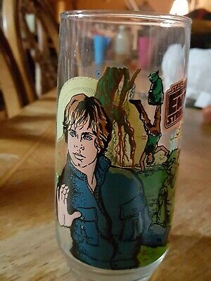 Star Wars The Empire Strikes Back Luke Skywalker Burger King 1980 Glass Cup
