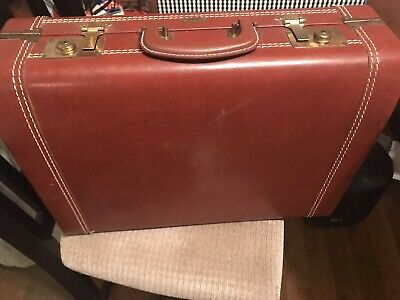 "Vintage Zephyrlyte By Lincoln Leather  Suitcase Luggage 19"" Nice!"