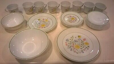 U Pick Lot-Corelle Expressions-1977 SPRING MEADOW-Green-Build A Dinnerware Set