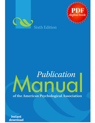Publication Manual of the American Psychological Association 6th P.D.F.