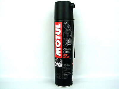 Motul C3 Spray Catena Grasso per 400ml Lube Off Road Moto Contenitore Nuovo