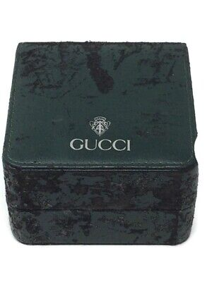 Vintage Gucci Box Blue Silver Crest Pre-owned